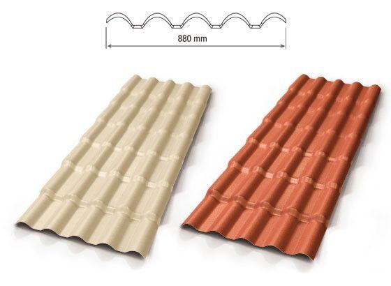 Telha de PVC Precon tipo Colonial cor Cerâmica ou Marfim 3,28x0,86