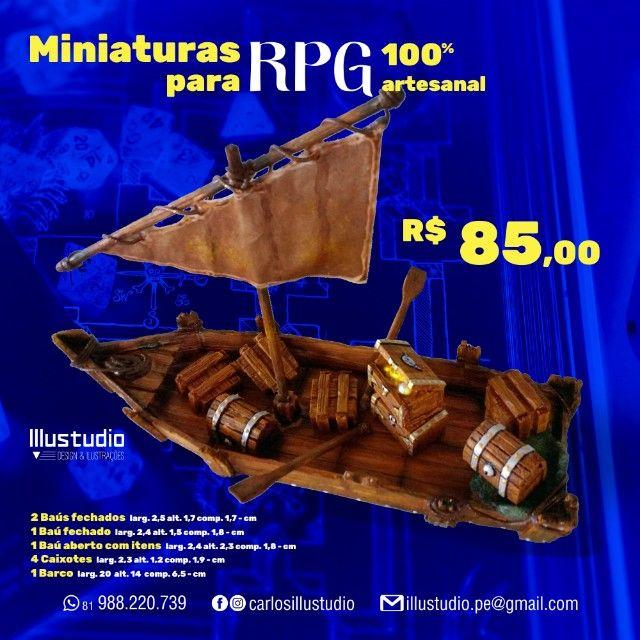 Miniaturas RPG 100% artesanal para compor sua mesa épica - Foto 6