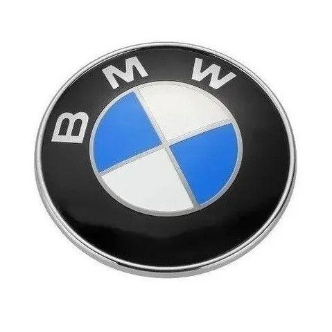 Emblema Bmw 82mm Capô Porta Malas Series 3 5 7 8 X5 Z3 X6 - Foto 3