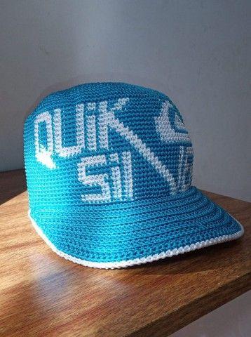 Boné crochê azul Quiksilver. Artesanal  - Foto 5