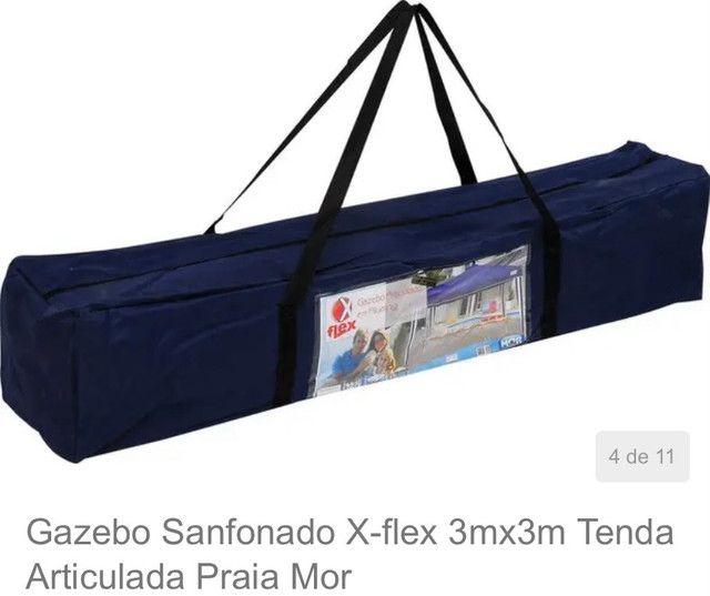 Tenda gazebo sanfonado x-flex 3mx3m - Foto 4