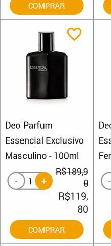 Deo Parfum perfume Essencial Exclusivo Masculino 100ml
