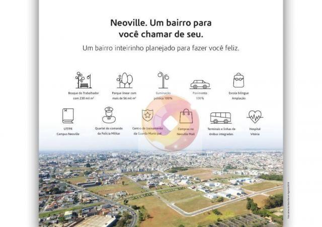 Apartamento com 2 dormitórios à venda, 51 m² por R$ 240.000,00 - Neoville - Curitiba/PR - Foto 4