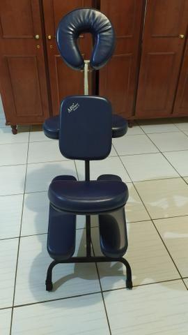 Cadeira quick massage + vapor de ozônio + kit pedras para massagem - Foto 3