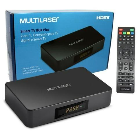 Conversor Digital e Smart Tv Box Android 2x1 PC001 Multilaser 1GB Ram 8GB Usb Hdmi Full Hd
