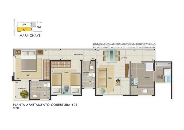 Apartamento com 3 dormitórios à venda, 112 m² por R$ 350.000 - Manacás - Belo Horizonte/MG - Foto 6