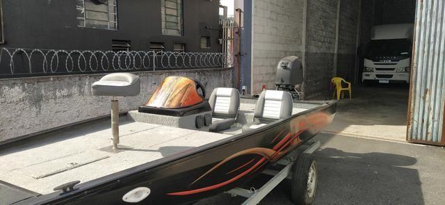 Barco BassBoat Alumínio completo
