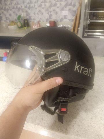 Capacete Kraft old school - Foto 6