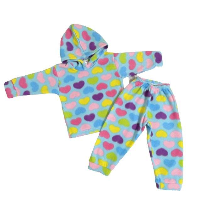 Conjuntos de calça comprida +Blusa de manga comprida e capuz/ Bebê - Foto 2