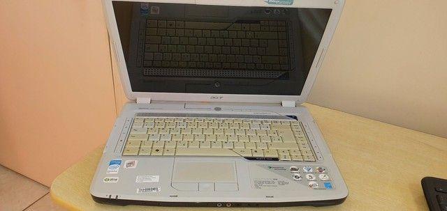 Note book Acer aspire 5920 com defeito no estado - Foto 2