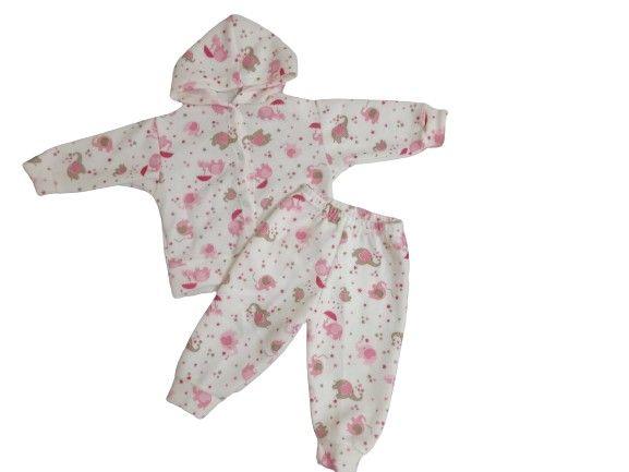 Conjuntos de calça comprida +Blusa de manga comprida e capuz/ Bebê - Foto 3