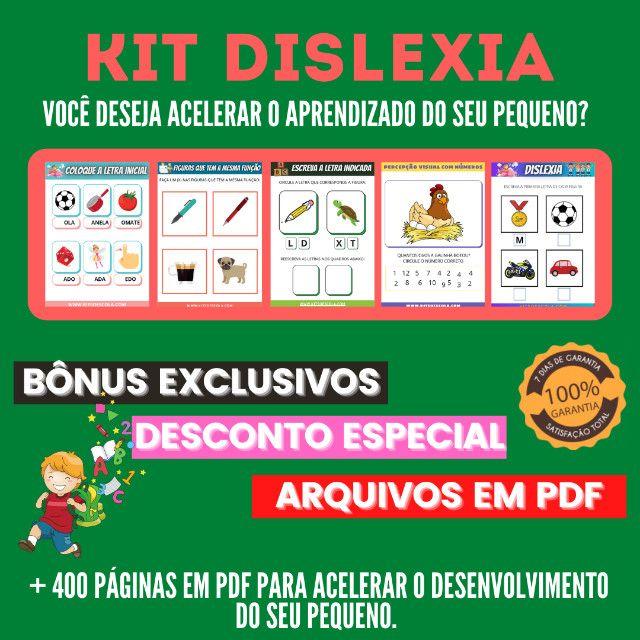 .:: Kit de Atividades ::. Kit Dislexia - Foto 3