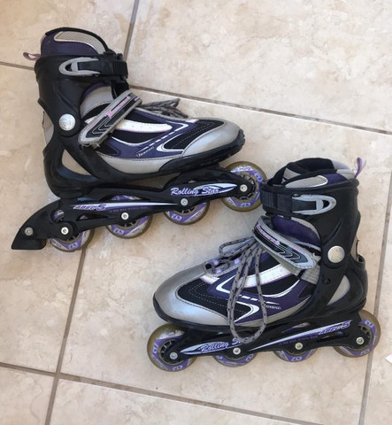 Patins Traxart Rolling Star (Cinza com Roxo)