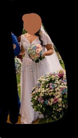 Vestido de noiva + véu
