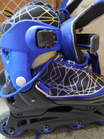 Vendo patins infantil tam 33-35 - Foto 6