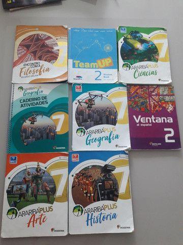 Livros 7° série Araribá, Ventana e Team Up