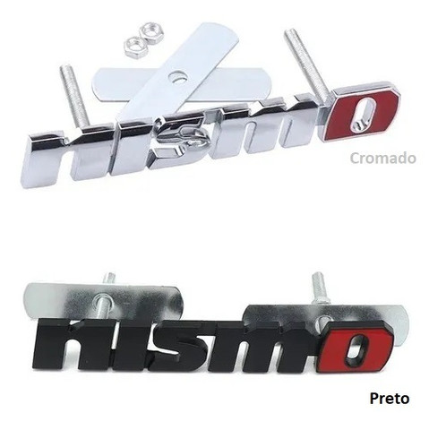 Emblema Metal Nissan Nismo Grade Acessório Sentra - Cromado ou Preto ou Preto
