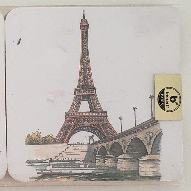 Porta Copos Cortiça com 6un Importado Paris França - Foto 2