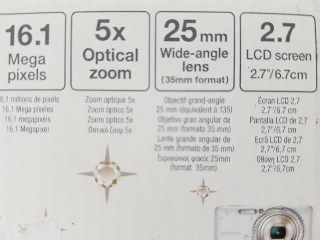 Câmara digital Sony cyber shot 16 1mega pixels zoom optical 5x completa com  nota fiscal