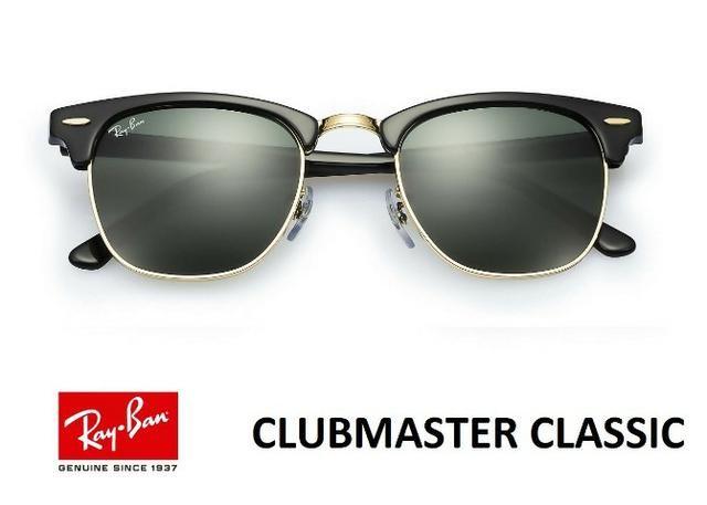 ae5cabd5ec8b7 Óculos Ray Ban Clubmaster Novo na Caixa RB3016 Várias Cores Original Com  Garantia de 1 ano