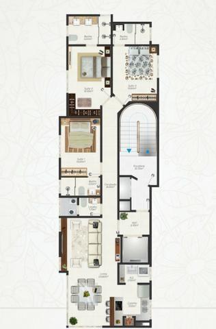 Apartamento com apenas 80 metros do mar!!! CO307 - Foto 2