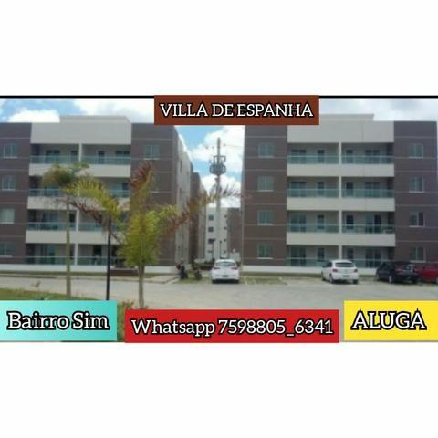 ALUGO apartamento Condomínio Vila de Espanha bairro Sim