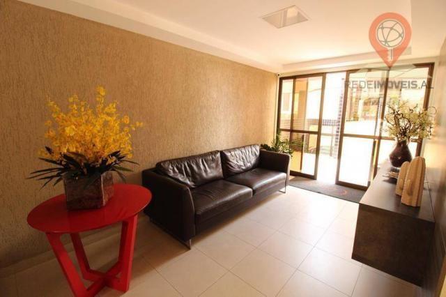 Apartamento com 2 dormitórios à venda, 65 m² por R$ 350.000 - Jatiúca - Maceió/AL - Foto 5