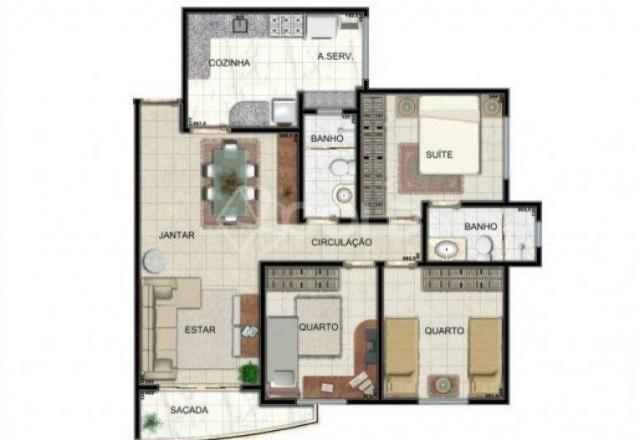 Apartamento à venda, 3 quartos, 2 vagas, santo agostinho - franca/sp - Foto 7