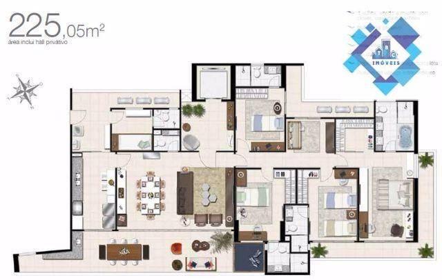 Apartamento alto padrão, 226m² com 4 suítes no Bairro do Meireles. - Foto 2