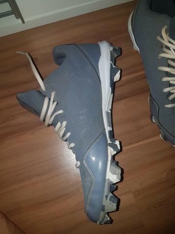 f1fe21689 Adidas Masculino Chuteiras de Futebol Americano Rugby Baseball Cinza Spg  753001 tamanho 11