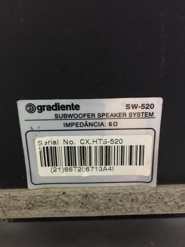 Caixa original gradiente com sub 8? usado - Foto 3