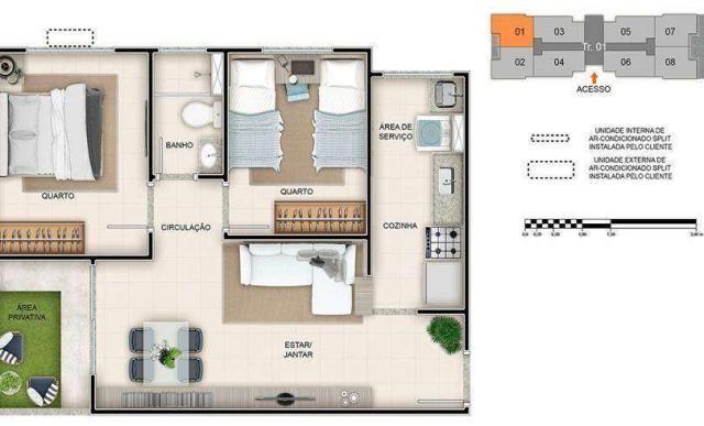 Spazio Montecarlo - Apartamento de 2 quartos na Região do Jardim América, Maringá - PR - I - Foto 14