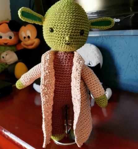 FREE AMIGURUMI PATTERN: Star Wars Yoda   Receitas amigurumi ...   480x445
