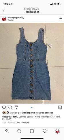 Vestido jeans com botão - Foto 2