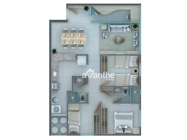 Apartamento com 3 dormitórios à venda, 66 m² por R$ 261.534,00 - Socopo Zona Leste - Teres - Foto 13