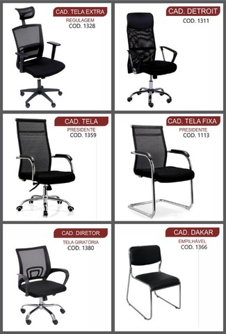 cadeiras para escritorio ofertas queima de estoque  - Foto 4