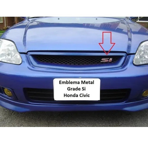 Emblema Metal Da Grade Honda Civic Si Vermelho New Civic - Foto 6