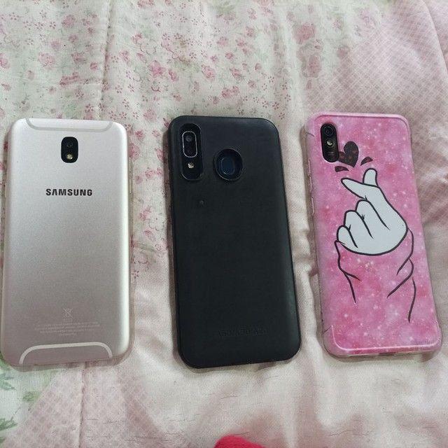 Samsung j5pro, A20 e Xiaomi redmi9A tudo funcionando e intacto apenas marcas de uso - Foto 2