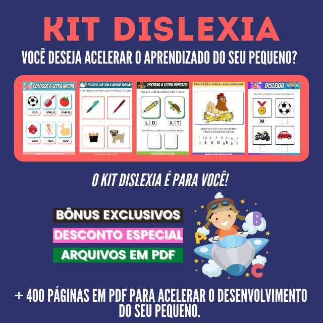 .:: Kit de Atividades ::. Kit Dislexia