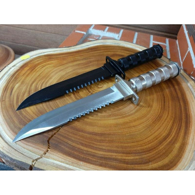 Faca tática Rambo combate militar kit sobrevivência preta ou prata - Foto 2