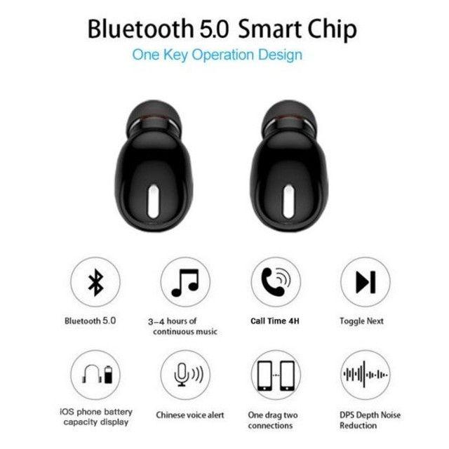 Fone Bluetooth Unilaterial sem fio - Foto 2