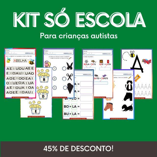 """.:: Kit de Atividades Alfabetização Infantil """"Autismo"""" ::"""