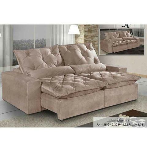 Cool Sofa Retratil E Reclinavel 4 Lugares Com Pillow E Assento Mola Elegance Faca Seu Pedido Pdpeps Interior Chair Design Pdpepsorg