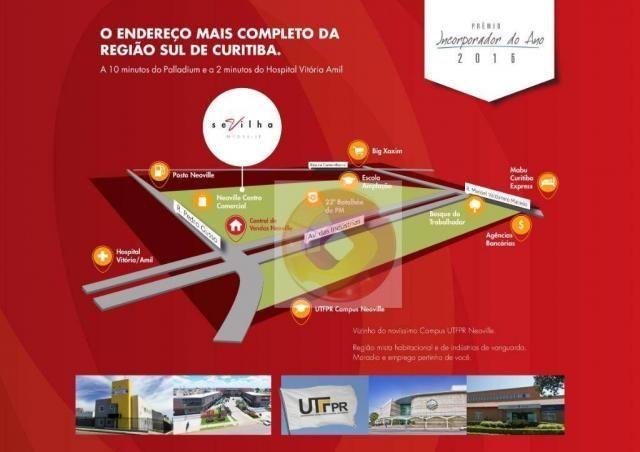 Apartamento com 2 dormitórios à venda, 51 m² por R$ 240.000,00 - Neoville - Curitiba/PR - Foto 3