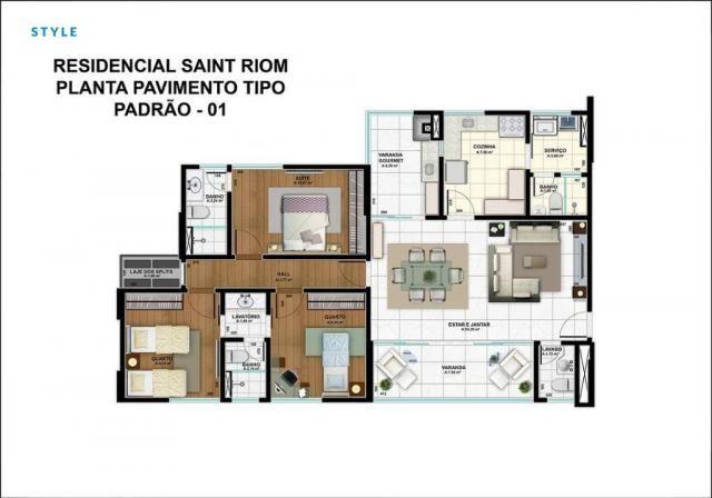 Apartamento no Edifício Saint Riom com 3 dormitórios à venda, 112 m² por R$ 450.000 - Migu - Foto 5