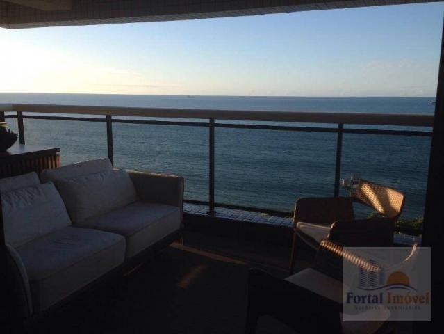 Lindíssimo apto com vista para o mar, completamente mobiliado e climatizado, alto padrão,  - Foto 8
