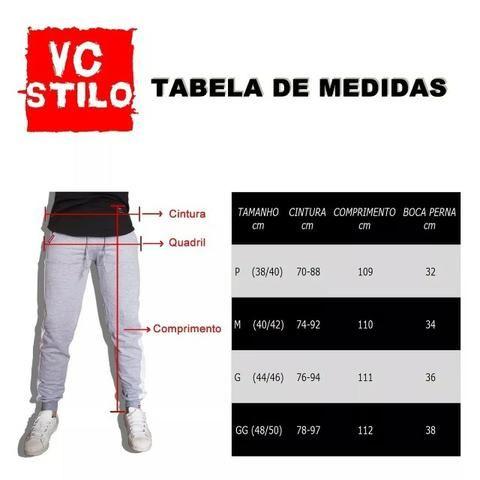 Calça Moletom Saruel Masculina - Calça Skinny Swag V91 - Foto 5