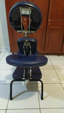 Cadeira quick massage + vapor de ozônio + kit pedras para massagem - Foto 2