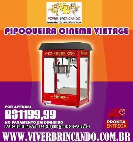 Pipoqueira elétrica vintage 110V - Faz 5Kg de pipoca por hora! Melhor Custo X Benefício !