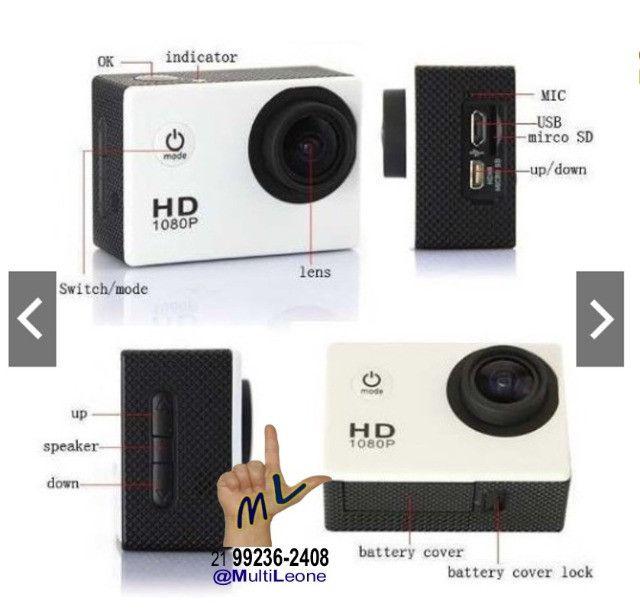 Camera Sports Hd Dv 1080p Filmadora Portátil À Prova D'agua Full Hd Dv 30m - Foto 5
